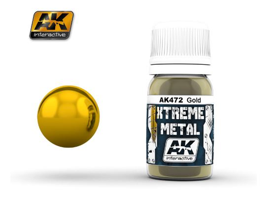AK Interactive Xtreme Metal Paints - Gold 00472