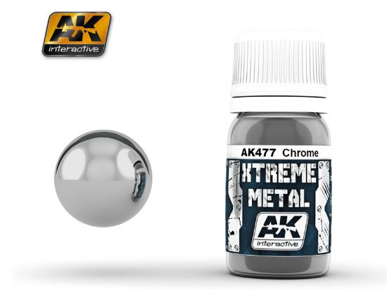 AK Interactive Xtreme Metal Paints - Chrome 00477