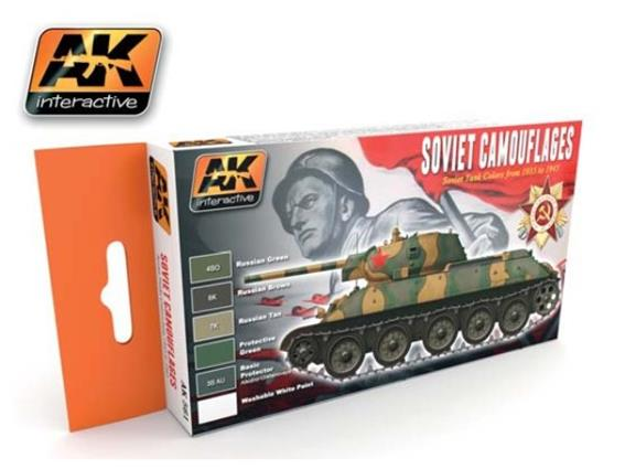 AK Interactive 17ml x 6 00561 Acrylic Set for Soviet Camouflage