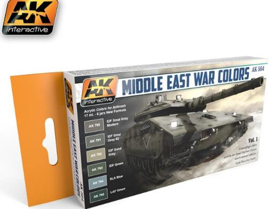 AK Interactive 17ml x6 00564 Middle East War Colours Vol 1