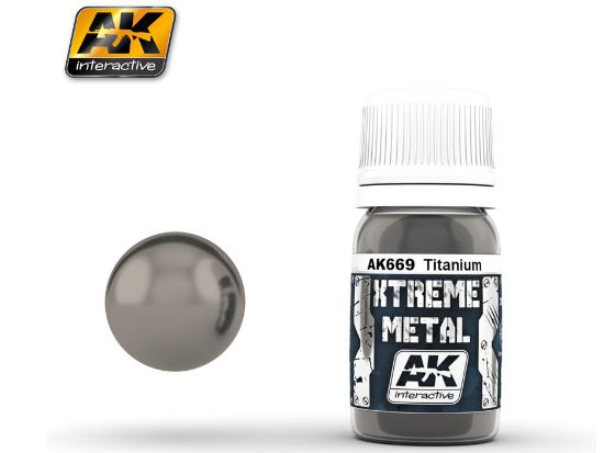 AK Interactive Xtreme Metal Paints - Titanium 00669