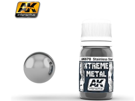 AK Interactive Xtreme Metal Paints - Stainless Steel 00670