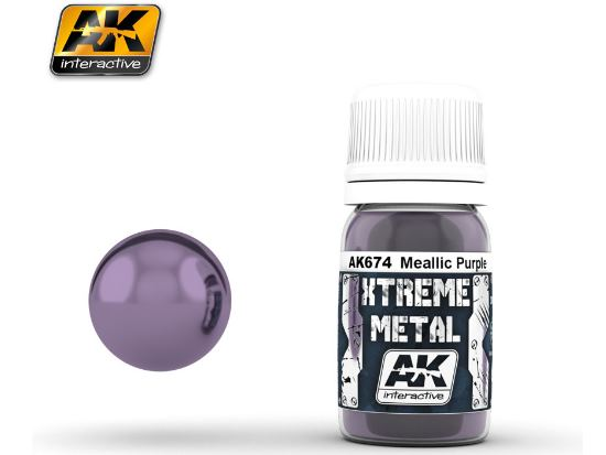 AK Interactive Xtreme Metal Paints - Metallic Purple 00674