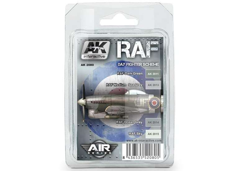 AK Interactive RAF Day Fighter Scheme Paint Set 02080