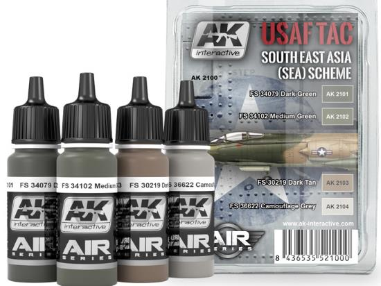 AK Interactive USAF TAC South East Asia (SEA) Scheme Paint Set 02100