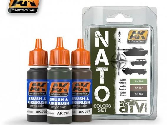 Ak Interactive 3 X 17ml 04001 Nato Colours Set