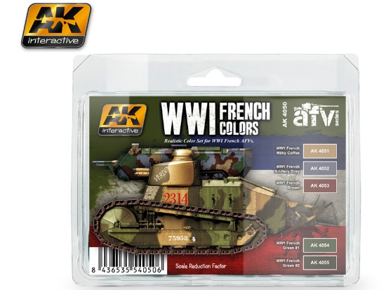 WWI French Colours Acrylic Paint Set