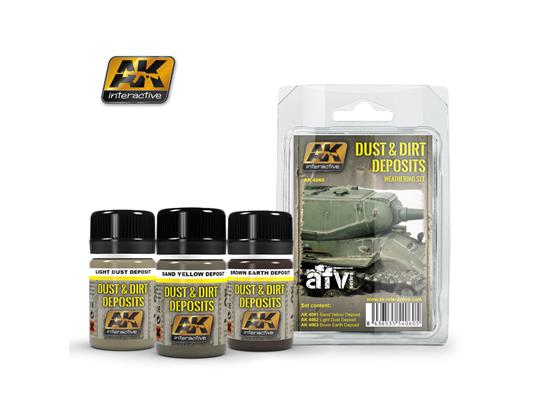 AK Interactive Dust and Dirt Deposit Set 04060