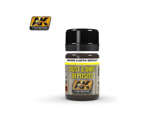 AK Interactive Brown Earth Dust / Dirt Deposit 04063