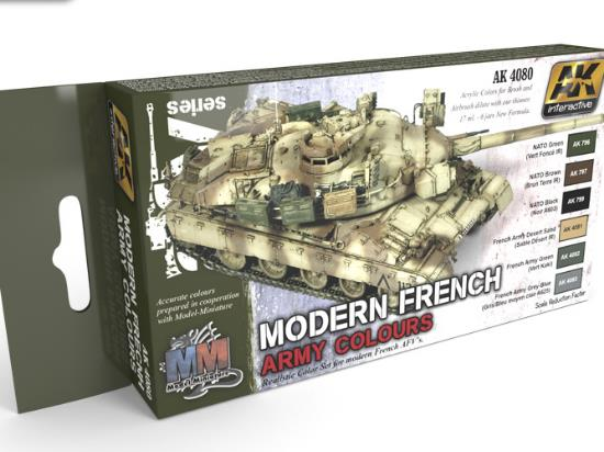 Modern French Army Colours Paint Set
