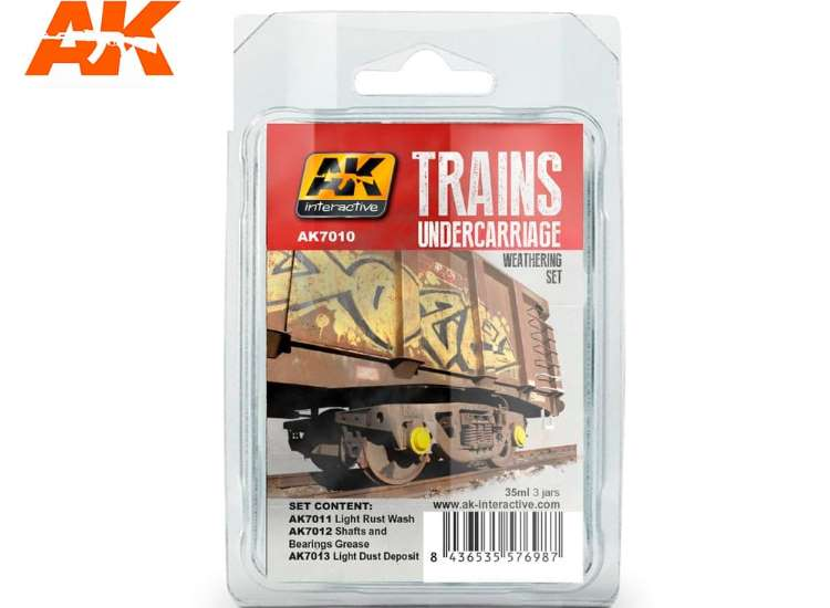 AK Interactive Trains Undercarriahe Weathering Set 07010