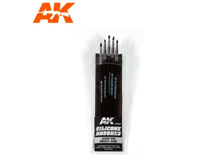 AK Interactive Silicon Brushes Hard Tip Small (5) 09087
