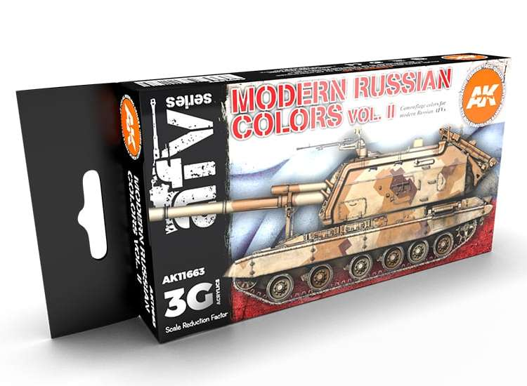 AK Interactive Modern Russian Colours Vol 2 - 3G Acrylic Paint Set 11663
