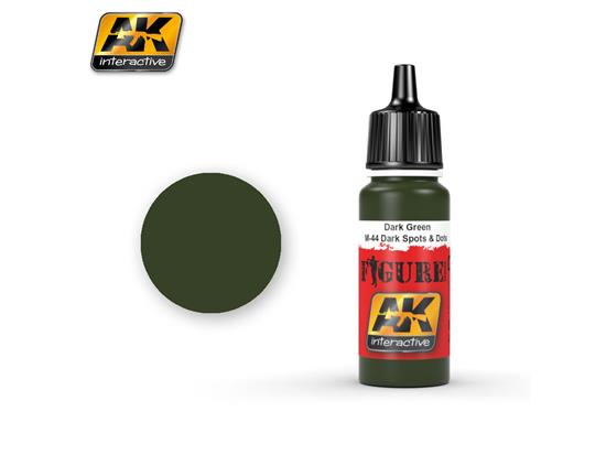 AK Interactive 17ml 3023 Figure Colour - Dark Green / M-44 Dark Spots & Dosts
