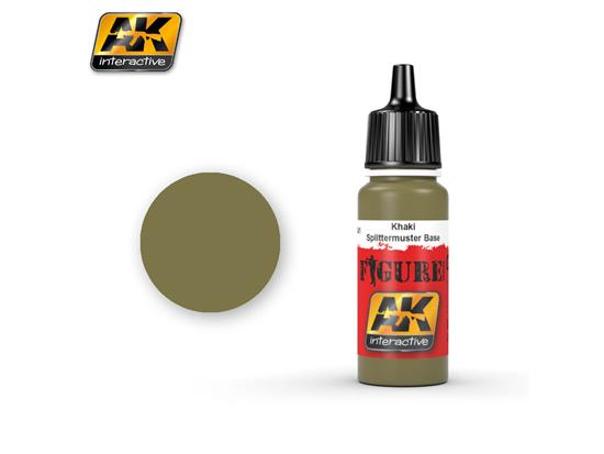 AK Interactive 17ml 3041 Figure Colour - Khaki / Splitter Base