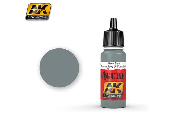 AK Interactive 17ml 3146 Figure Colour - Grey Blue / German Grey Uniform Light