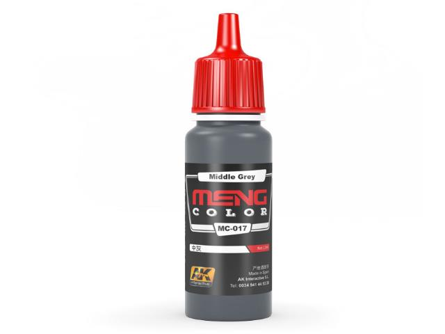 AK Interactive 17ml MC017 Middle Grey - Acrylic Paint