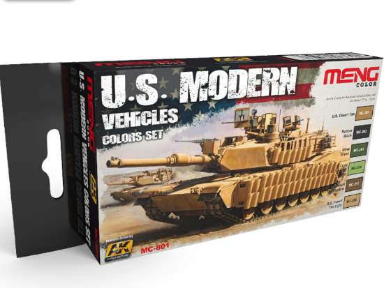 US Modern Vehicle Colours Paint Set (Meng Series)
