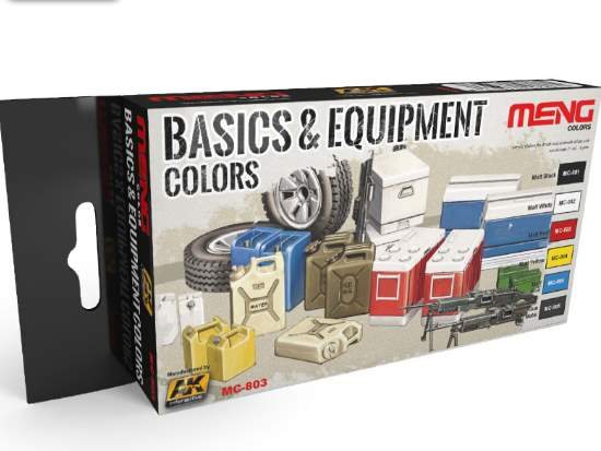 Basics & Equipment Colours Paint Set (Meng Series)