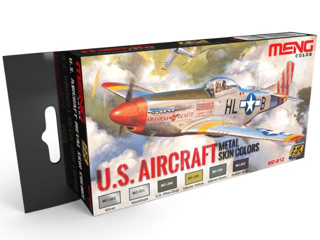 US Aircraft Metal Skin Colours Paint Set (Meng Series)