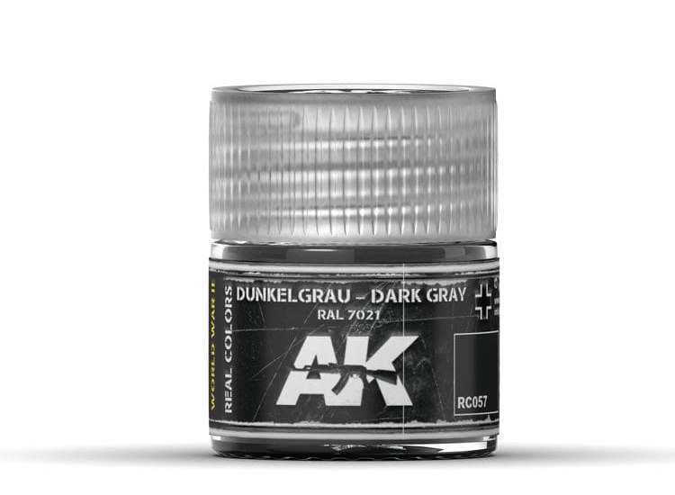 Real Colors - Dunkelgrau-Dark Gray RAL 7021