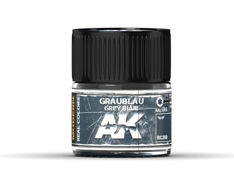 Real Colors - Graublau-Grey Blue RAL 5008, 10 ml