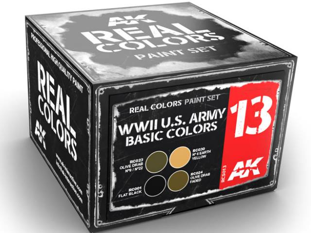 Real Colors Lacquer Paint Set - US Army Basic