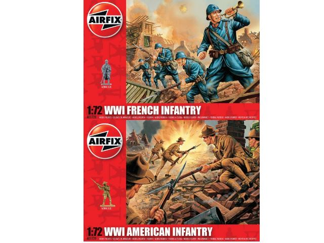 Airfix WWI French Infantry and WWI US Infantry