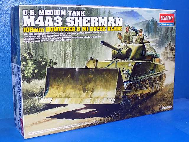 Academy 1/35 13207 M4A3 105mm Sherman with M1 dozer blade