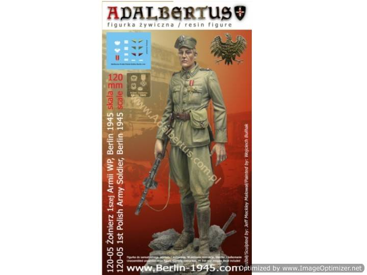 Adalbertus 120mm 12005 1st Polish Army Soldier, Berlin 1945