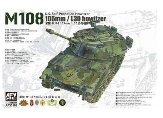 AFV Club M108 US Self-propelled 105mm/L30 Howitzer 35108