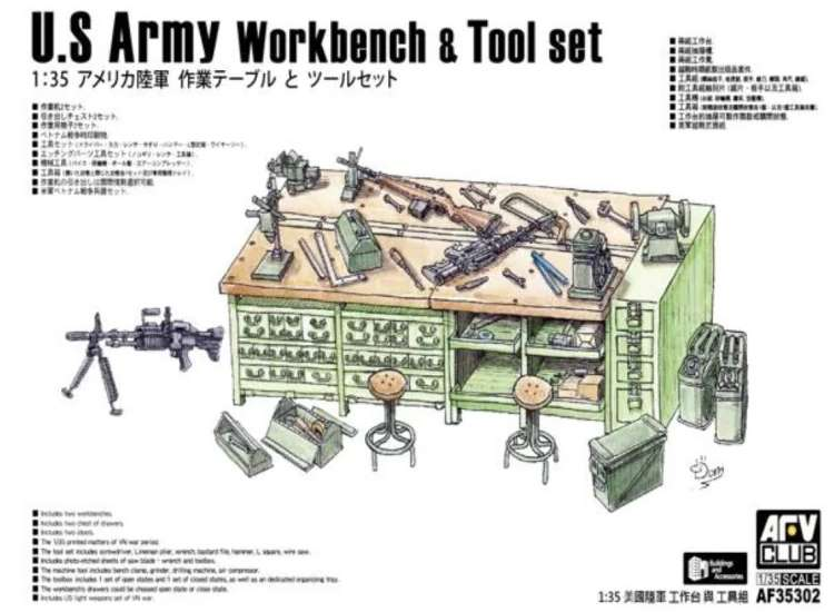 AFV Club US Army Workbench & Tool Set 35302