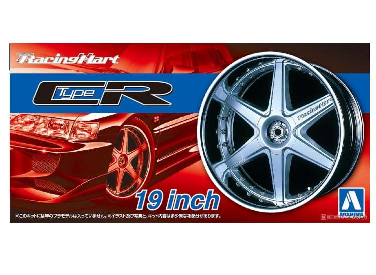 Aoshima Racing Heart Type CR 19 Inch Wheel and Tyre Set 05393
