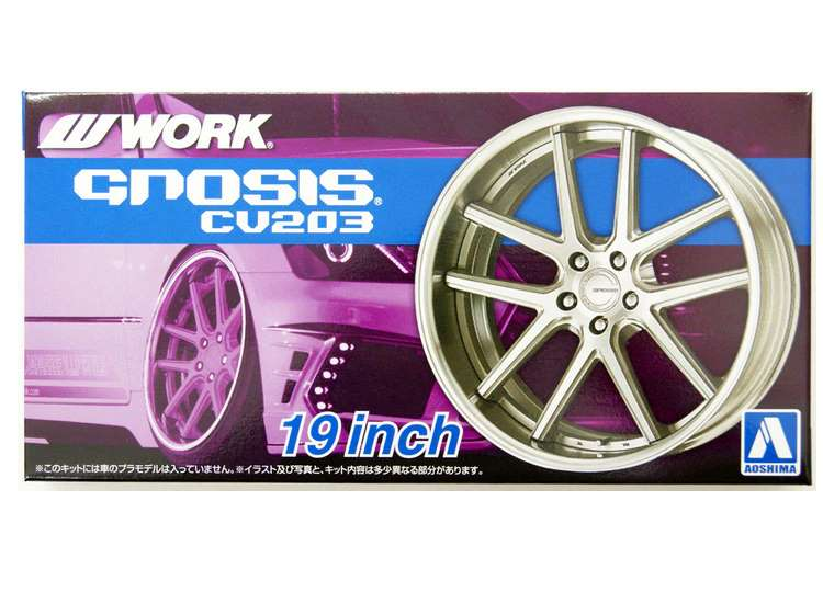Aoshima Work GNOSIS CV203 19 inch  Wheel and Tyres Set 06116