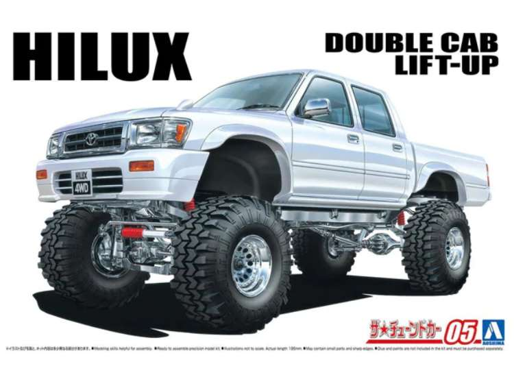 Aoshima Hilux Pick-Up Double Cab Lift Up '94 06131