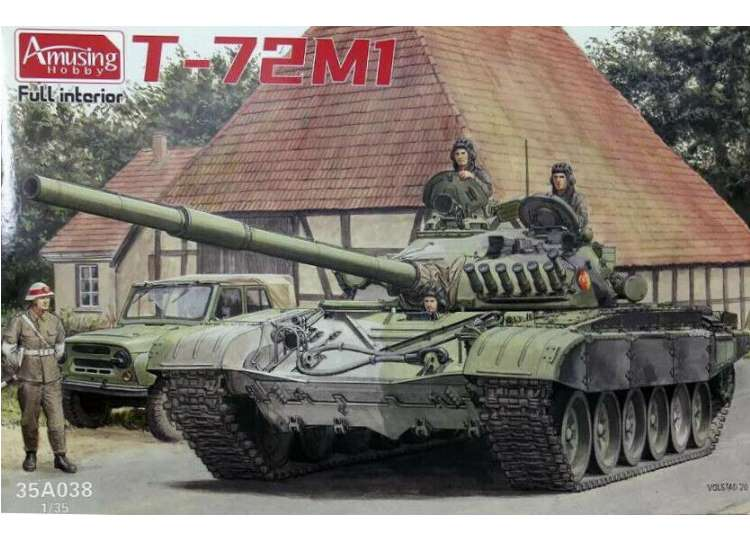 Amusing Hobby T-72M1 with Full Interior 35A038