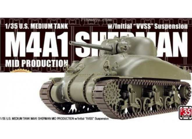 Asuka M4A1 Sherman Mid Production w/ Initial VVSS Suspension 35AS001