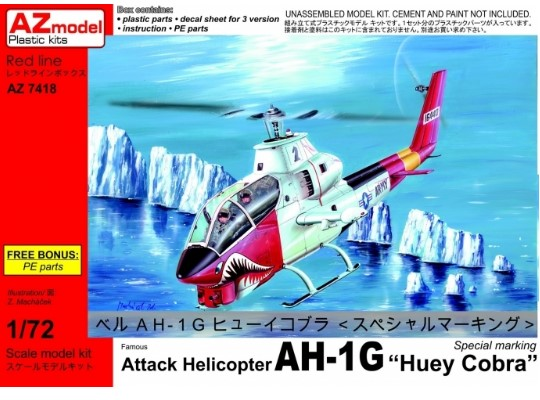 Attack Helicopter AH-1G Huey Cobra Special w/PE
