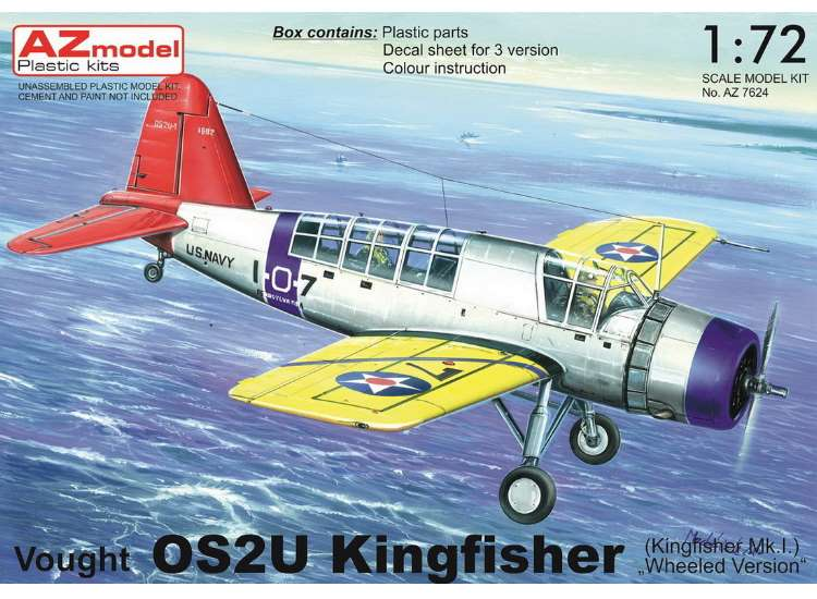 AZ Models Vought OS2U Kingfisher FAA and USN (on wheels) 7624