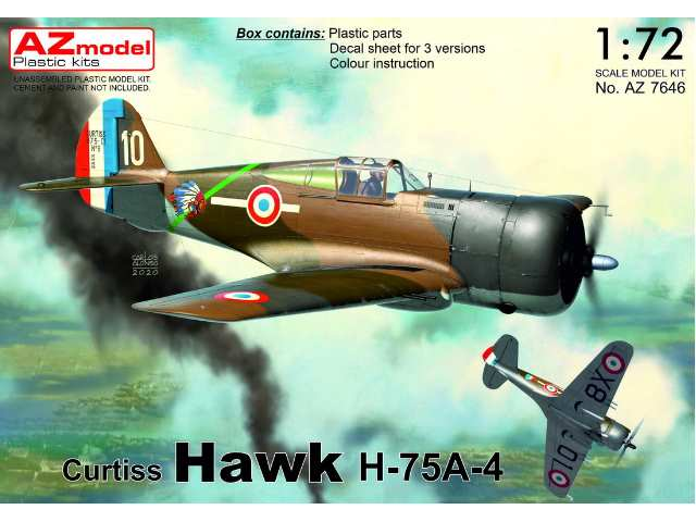 Curtiss H-75A-4 Hawk French service new fuselage frame added