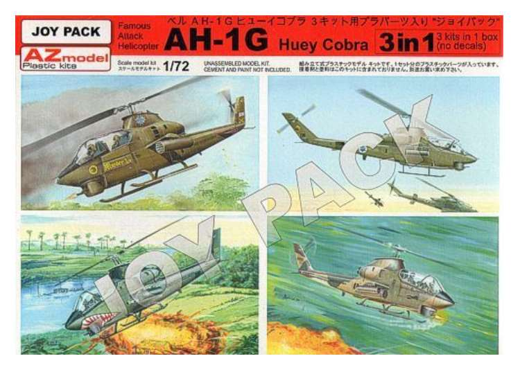 AZ Models Bell AH-1G Huey Cobra (3 Kits No Decals) 7702