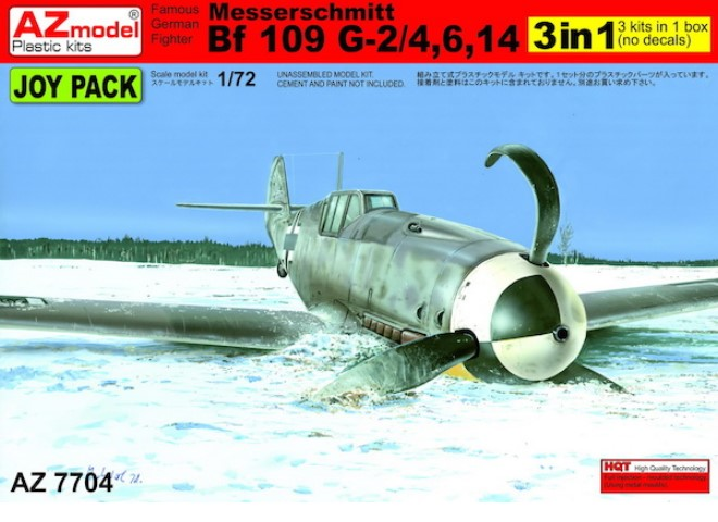 AZ Models Messerschmitt Bf-109 G2/4/6/14 Joy Pack (3 Kits No Decals)