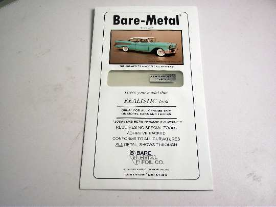 Bare Metal na 01 BARE METAL FOIL Chrome (self adhesive)