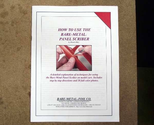 Bare Metal na BOOK2 Booklet on how to use BARE METAL PANEL SCRIBER on model cars
