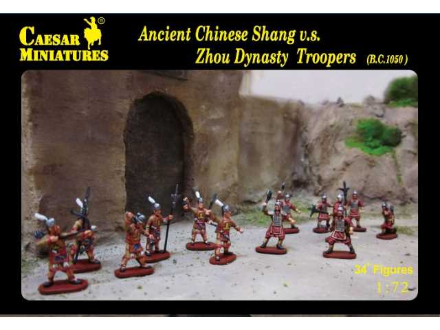 Caesar Miniatures 1/72 029 Ancient Chinese Shang  v.s.  Zhou Dynasty Troopers   bc1050