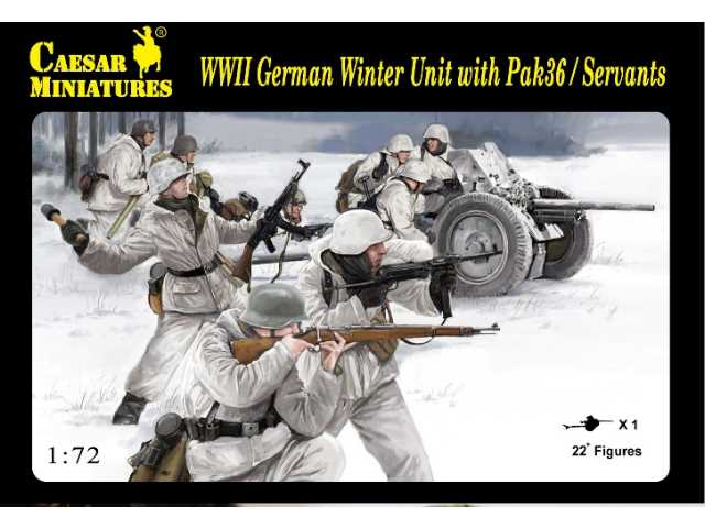 Caesar Miniatures 1/72 097 WWII German Winter Unit + PAK 36