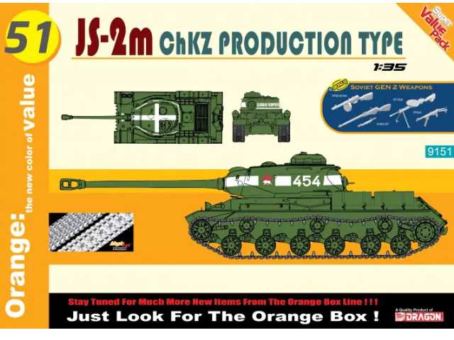 Dragon 1/35 9151 JS-2m ChKZ Production Type w/ Weapons Set