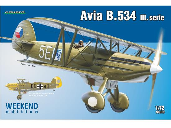 Eduard 1/72 7429 Avia B.534 III. Serie - Weekend Edition