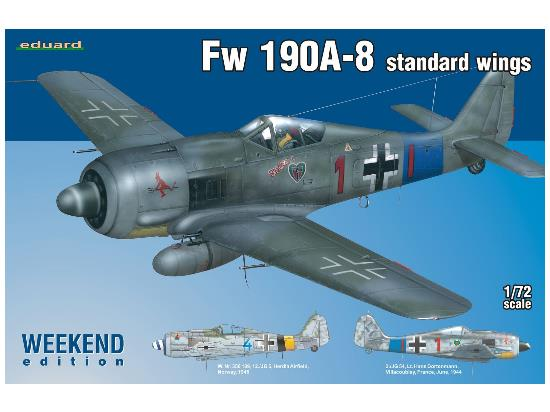 Eduard Fw 190A-8 standard wings Weekend Edition