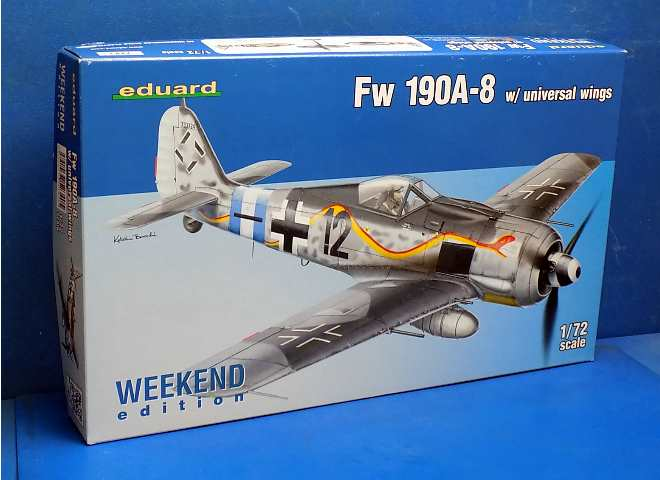 Eduard 1/72 7443 Fw-190A-8 Universale Wings - Weekend Edition